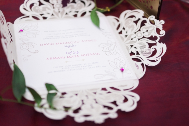 stationary wedding arabic london dubai