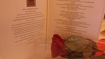 menu personalised rose