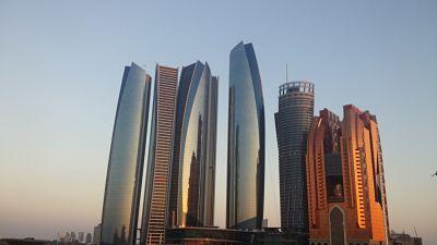 skyline etihad towers abu dhabi
