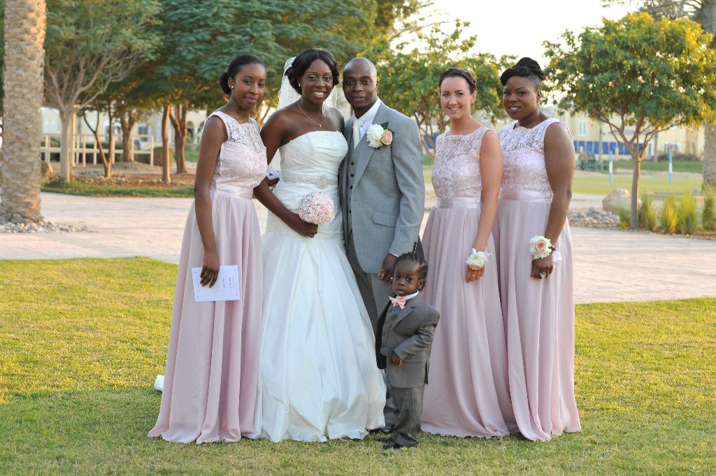 bridesmaids wedding dubai mr mrs nigerian