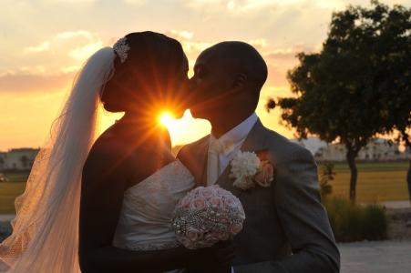 sunset kiss wedding dubai nigerian love