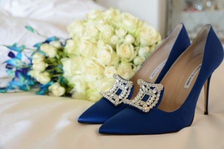 flowers shoes manolo wedding