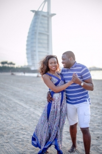 burj al arab beach engaged nigerian