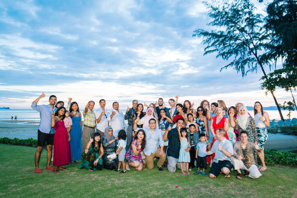 family friends thailand wedding