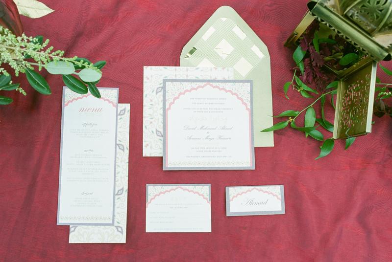 stationary menu invite card