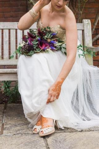 bride henna dress london