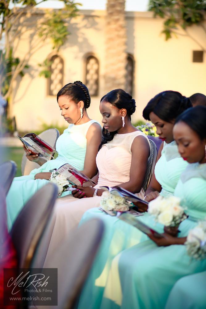 bridesmaids wedding dubai pastel